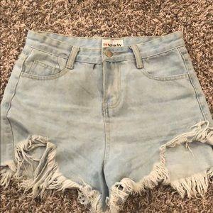 Pants - High Rise Denim Shorts